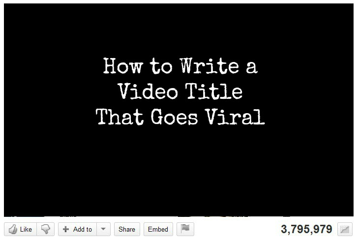 How to write viral video titles?