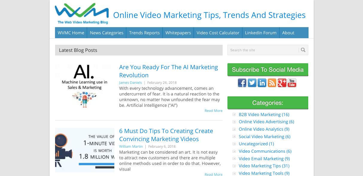 video marketing blogs